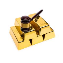 gold bars with auction gavel- Stock Photo or Stock Video of rcfotostock | RC-Photo-Stock