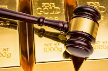 gold bars with judge gavel - Stock Photo or Stock Video of rcfotostock | RC-Photo-Stock