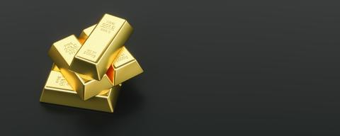 Gold bullion on black background and copy space- Stock Photo or Stock Video of rcfotostock | RC-Photo-Stock