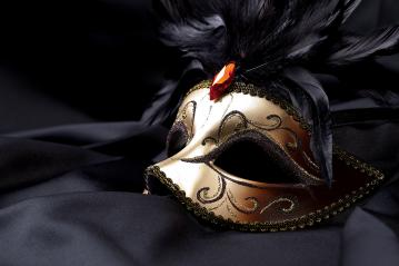 gold mask on black silk- Stock Photo or Stock Video of rcfotostock | RC-Photo-Stock