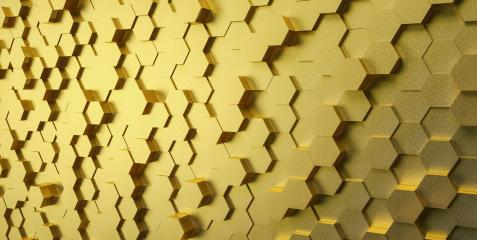 Gold Technical 3D white hexagonal background structure : Stock Photo or Stock Video Download rcfotostock photos, images and assets rcfotostock | RC-Photo-Stock.: