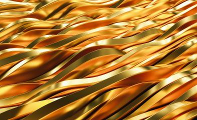Gold Wave Abstract Background slices 3D Rendering- Stock Photo or Stock Video of rcfotostock | RC-Photo-Stock