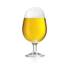 Golden beer glass pilsner beer tulip with foam crown and dew condensing water drops- Stock Photo or Stock Video of rcfotostock | RC-Photo-Stock