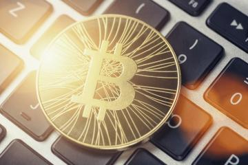 Golden Bitcoin Cash - New virtual money on keyboard- Stock Photo or Stock Video of rcfotostock | RC-Photo-Stock