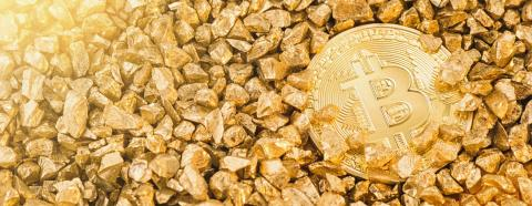 Golden Bitcoin Coin and mound of gold. Bitcoin cryptocurrency. Concept image : Stock Photo or Stock Video Download rcfotostock photos, images and assets rcfotostock | RC-Photo-Stock.: