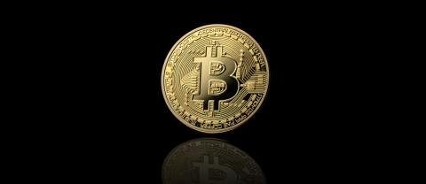 Golden Bitcoin on black background- Stock Photo or Stock Video of rcfotostock | RC-Photo-Stock
