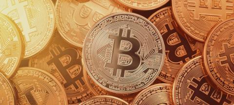 Golden Bitcoins. New virtual money.- Stock Photo or Stock Video of rcfotostock   RC-Photo-Stock