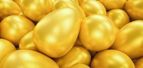 golden eggs, including copy space - 3D Rendering  : Stock Photo or Stock Video Download rcfotostock photos, images and assets rcfotostock | RC-Photo-Stock.: