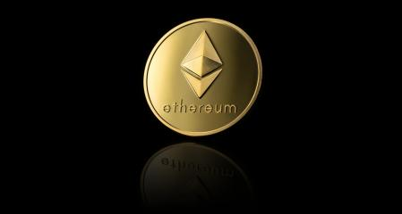 Golden ethereum coin on black background- Stock Photo or Stock Video of rcfotostock | RC-Photo-Stock