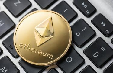 Golden ethereum coin on notebook- Stock Photo or Stock Video of rcfotostock | RC-Photo-Stock