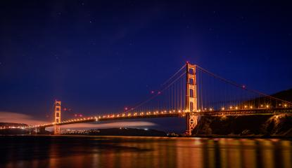 Golden Gate Bridge bei Nacht mit Sternen, USA, Kalifornien : Stock Photo or Stock Video Download rcfotostock photos, images and assets rcfotostock | RC-Photo-Stock.: