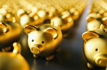 golden piggy bank. Saving money concept- Stock Photo or Stock Video of rcfotostock | RC-Photo-Stock