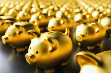golden piggy banks- Stock Photo or Stock Video of rcfotostock | RC-Photo-Stock