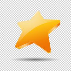 golden star, Glossy yellow 3D trophy star icon. Symbol of leadership or rating on checked transparent background. Vector illustration. Eps 10 vector file.- Stock Photo or Stock Video of rcfotostock | RC-Photo-Stock