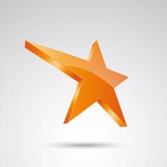 golden star logo, yellow glossy 3D style trophy star icon. Symbol of leadership or rating. Vector illustration. Eps 10 vector file.- Stock Photo or Stock Video of rcfotostock | RC-Photo-Stock
