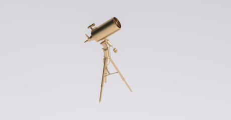 Golden telescope on the tripod- Stock Photo or Stock Video of rcfotostock | RC-Photo-Stock