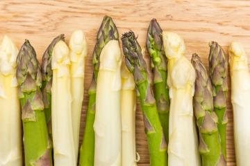 green and white Asparagus spears - Stock Photo or Stock Video of rcfotostock | RC-Photo-Stock