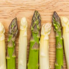 green and white Asparagus spears- Stock Photo or Stock Video of rcfotostock | RC-Photo-Stock