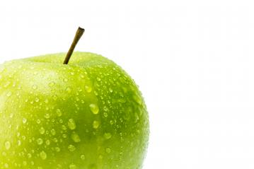 green apple with drops- Stock Photo or Stock Video of rcfotostock | RC-Photo-Stock