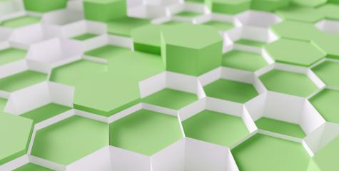 green Hexagon honeycomb Background - 3D rendering - Illustration - Stock Photo or Stock Video of rcfotostock | RC-Photo-Stock
