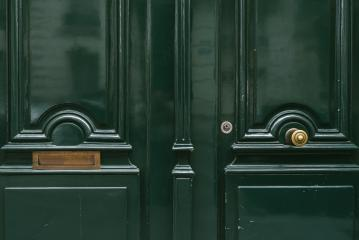 green old door with letter box- Stock Photo or Stock Video of rcfotostock | RC-Photo-Stock