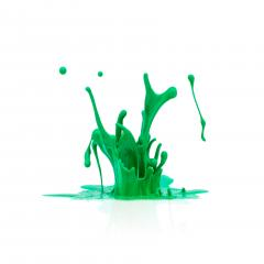 green paint splashing isolated on white- Stock Photo or Stock Video of rcfotostock | RC-Photo-Stock