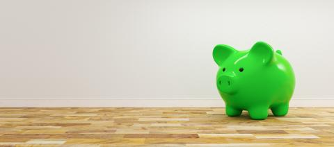 green piggy bank as row leader, investment and development concept - copyspace for your individual text. - Stock Photo or Stock Video of rcfotostock | RC-Photo-Stock