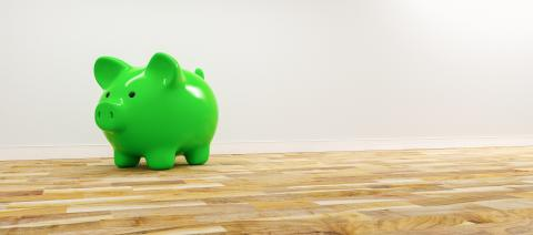 green Piggy Bank, Savings, Currency.  - copyspace for your individual text.- Stock Photo or Stock Video of rcfotostock | RC-Photo-Stock