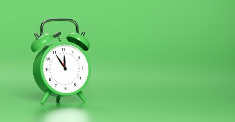 Green vintage alarm clock point to five minutes to twelve o'clock with bright Green background. Minimal creative concept, with copyspace for your individual text. : Stock Photo or Stock Video Download rcfotostock photos, images and assets rcfotostock | RC-Photo-Stock.: