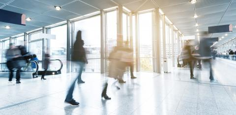 group of Blurred business people goes along a corridor- Stock Photo or Stock Video of rcfotostock | RC-Photo-Stock