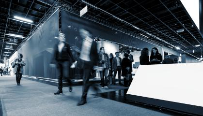 Group of business people at a trade fair- Stock Photo or Stock Video of rcfotostock | RC-Photo-Stock