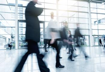 Group of Business People Walking at a Exhibition- Stock Photo or Stock Video of rcfotostock | RC-Photo-Stock