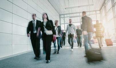 group of commuters in the lobby of a airport- Stock Photo or Stock Video of rcfotostock | RC-Photo-Stock
