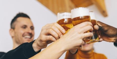 Group of friends enjoying beer glasses in brewery english pub, Young people cheering at bar restaurant, Friendship and youth concept- Stock Photo or Stock Video of rcfotostock | RC-Photo-Stock