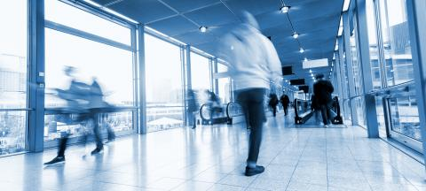 group of people in the lobby of a airport- Stock Photo or Stock Video of rcfotostock | RC-Photo-Stock