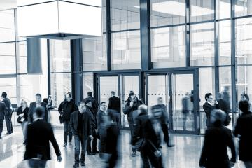 group of people in the lobby of a business Exhibition : Stock Photo or Stock Video Download rcfotostock photos, images and assets rcfotostock | RC-Photo-Stock.: