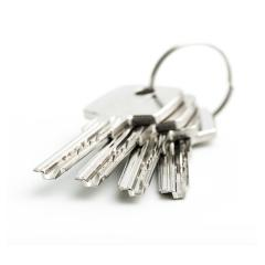group of silver keys isolated on white background- Stock Photo or Stock Video of rcfotostock | RC-Photo-Stock