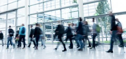 Group of unrecognizable business Exhibition visitors- Stock Photo or Stock Video of rcfotostock | RC-Photo-Stock
