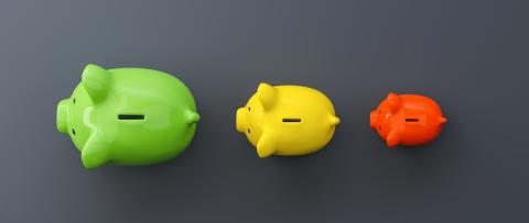Growth chart of piggy bank on the table, luxery concept image- Stock Photo or Stock Video of rcfotostock | RC-Photo-Stock