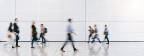 Gruppe Business Leute gehen auf Konferenz- Stock Photo or Stock Video of rcfotostock | RC-Photo-Stock