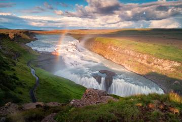 Gullfoss waterfall with rainbow : Stock Photo or Stock Video Download rcfotostock photos, images and assets rcfotostock | RC-Photo-Stock.: