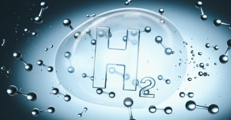 H2 Hydrogen Symbol in a bubble in liquid with molecules : Stock Photo or Stock Video Download rcfotostock photos, images and assets rcfotostock   RC-Photo-Stock.: