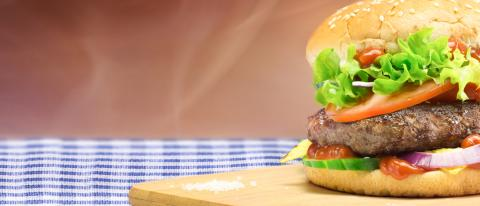 Hamburger - homemade burger with fresh vegetables- Stock Photo or Stock Video of rcfotostock | RC-Photo-Stock