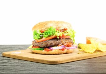 Hamburger - homemade burger with fresh vegetables : Stock Photo or Stock Video Download rcfotostock photos, images and assets rcfotostock   RC-Photo-Stock.: