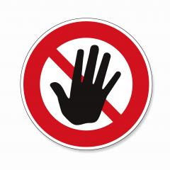 Hand forbidden sign, no entry, do not touch, dont push, off limits on white background. Vector illustration. Eps 10 vector file.- Stock Photo or Stock Video of rcfotostock | RC-Photo-Stock