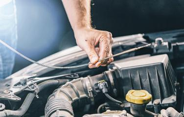 Hand mechanic in repairing car, check the Oil- Stock Photo or Stock Video of rcfotostock | RC-Photo-Stock