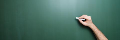hand starts writing with chalk on a clean blackboard- Stock Photo or Stock Video of rcfotostock | RC-Photo-Stock