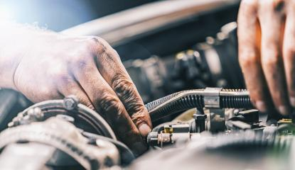 hands of a Auto mechanic in a car- Stock Photo or Stock Video of rcfotostock | RC-Photo-Stock