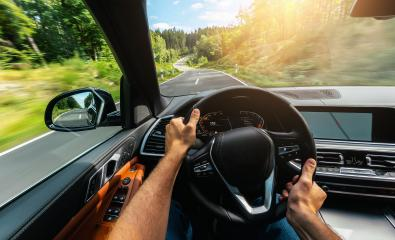 hands of car driver on steering wheel, road trip, driving on highway road- Stock Photo or Stock Video of rcfotostock | RC-Photo-Stock