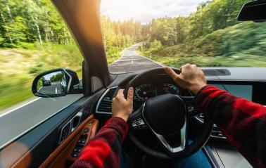 hands of car driver on steering wheel, road trip, driving on highway road : Stock Photo or Stock Video Download rcfotostock photos, images and assets rcfotostock | RC-Photo-Stock.: